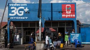 A Goma, en RDC, des publicités pour un fournisseur d'accès internet.