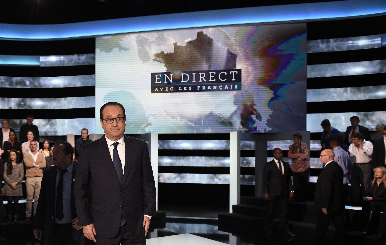François Hollande sur le plateau de TF1, le 6 novembre 2014.