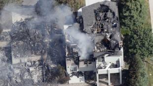 Casa destruida por el Waldo Canyon Fire en Colorado Springs, Colorado-EE.UU., el 28 de junio de 2012.