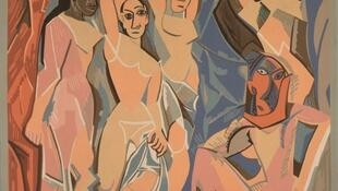 毕加索作品 «亚威农的少女» 1907