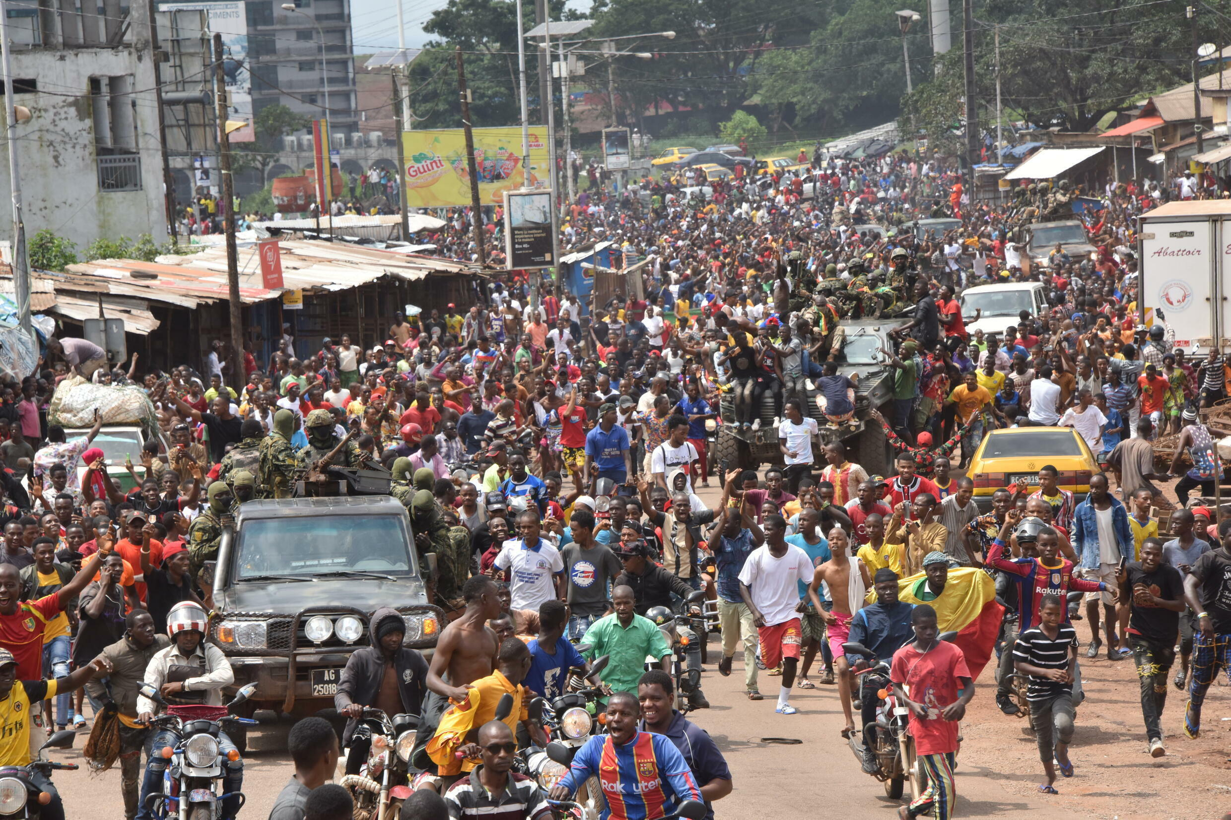 Jubilation erupted in some districts of Conakry after the military took power