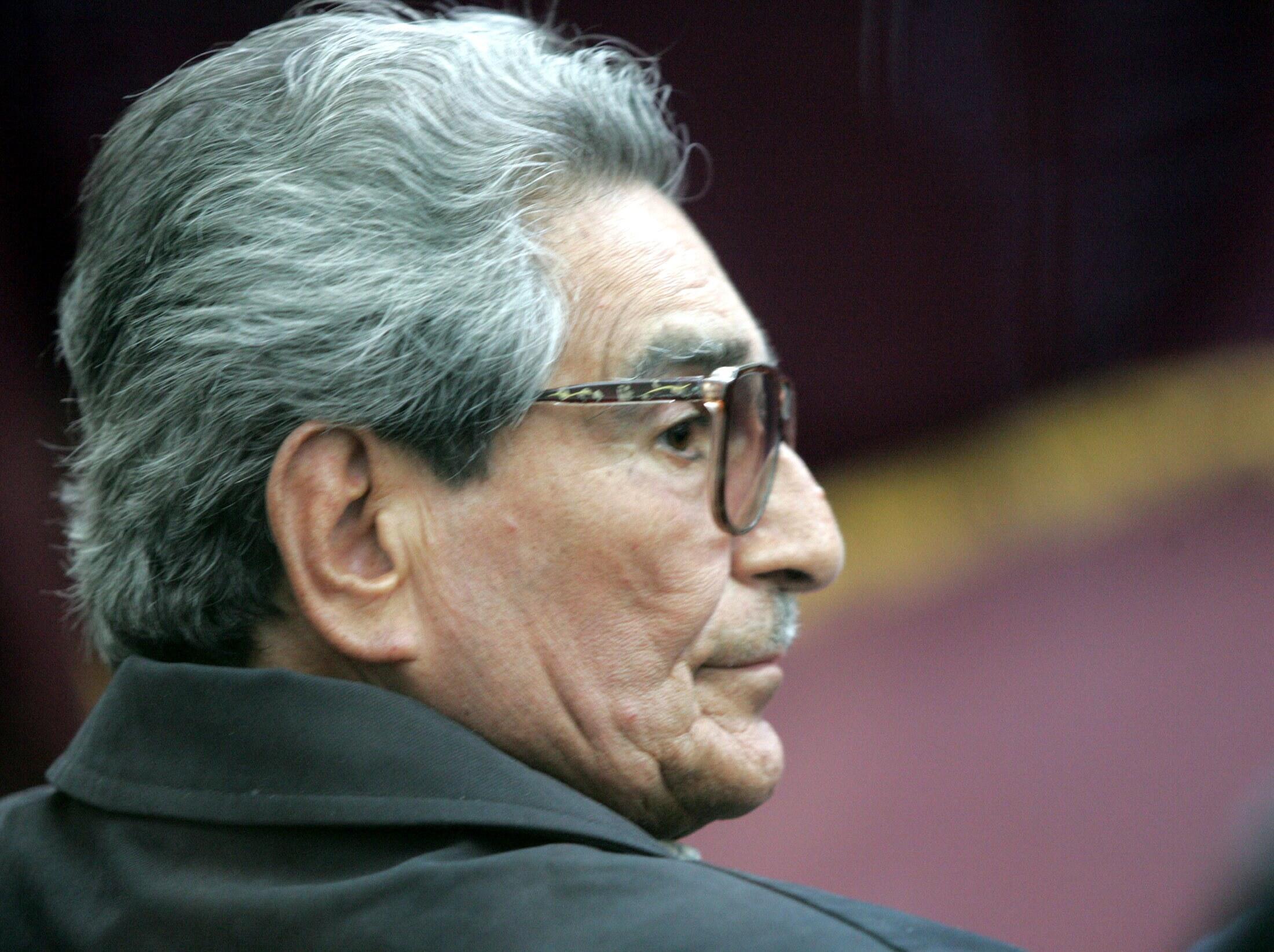 Abimael Guzmán en 2004 durante su juicio.