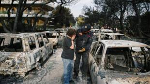 A maioria das vítimas dos incêndios encontravam-se em Mati, a cerca de 30 quilómetros a leste de Atenas.