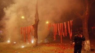 北京居民春節燃放爆竹