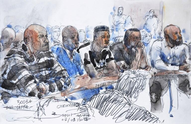 Booba (l) et Kaaris (r) in court last September