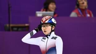 Shim Suk-hee photographiée lors des JO d'hiver de Pyeongchang, en Corée du Sud, le 22 février 2018.