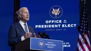 Rais mteule wa Marekani, Joe Biden.