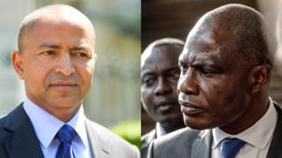 Gavana wa zamani wa Katanga Moïse Katumbi (kushoto) na kiongozi wa upinzani Martin Fayulu, aliyekuwa mgombea wa upinzani katika uchaguzi wa urais wa 2018 nchini DRC.