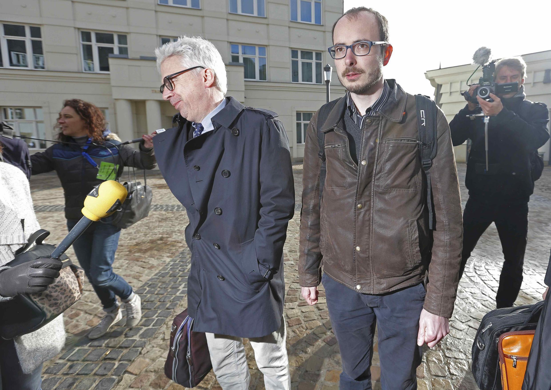 Antoine Deltour with his lawyer William Bourdon