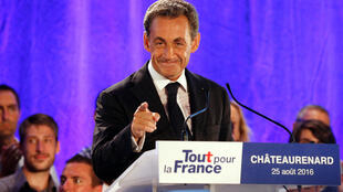 Nicolas Sarkozy at a campaign rally this year