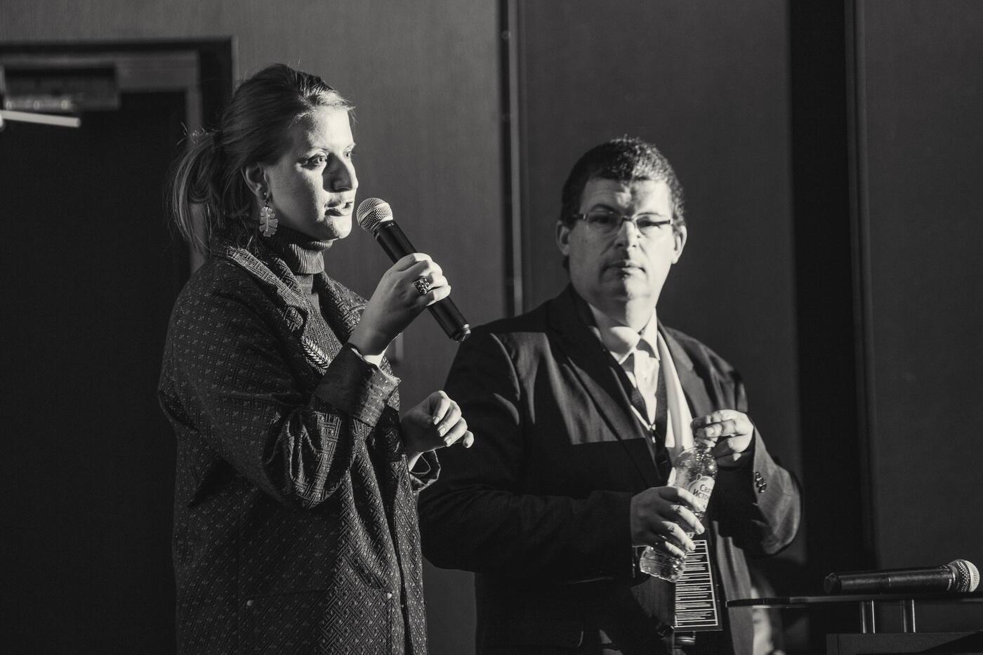 Французский эксперт в области ВЭД и международной торговли Стефан Монтальбано и Мария Бунос, представительница консалтингового бюро France Group