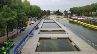 Le bassin de la Villette, ce vendredi 17 juillet, à la veille de l'ouverture de l'édition 2020 de Paris Plages.