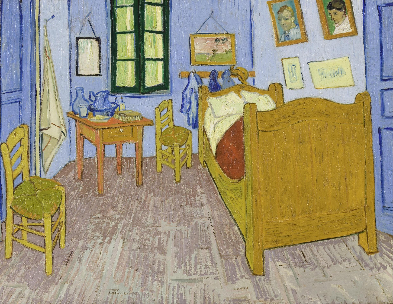 """Pintura """"Quarto em Arles"""", de Van Gogh, de 1888"""