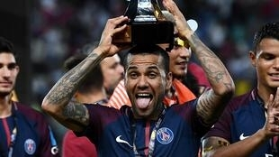 Daniel Alves a été l'homme du match lors de la victoire du PSG contre Monaco (2-1) lors du Trophée des champions 2017 à Tanger.