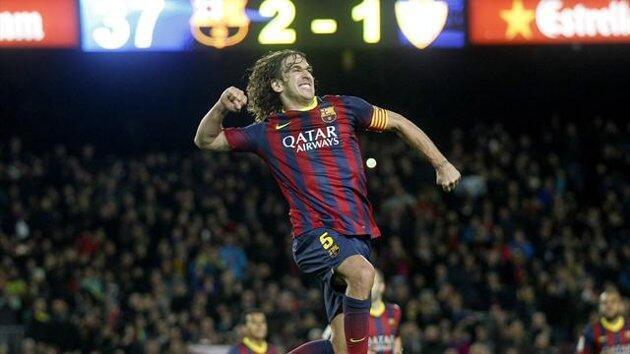 Beki wa kati wa FB Barcelona, Carles Puyol ambaye ametangaza kuondoka mwishoni mwa msimu