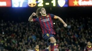 Carles Puyol  jagoran kungiyar Barcelona
