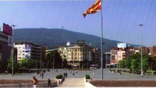 Vue de Skopje, capitale de la Macédoine.