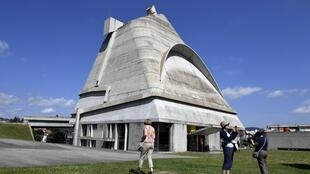 This file photo shows the church of Saint-Pierre built by Le Corbusier near Saint-Etienne, eastern France.