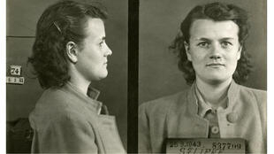 Paulette Sarcey, lors de son arrestation le 25 mars 1943.