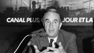 André Rousselet, fondateur de la chaîne Canal+, à Paris, le 2 octobre 1984