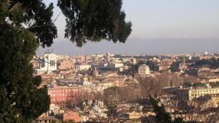 Vue de la ville de Rome en Italie.