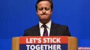 O premiê inglês David Cameron durante discurso na Escócia, em foto de 15 de setembro de 2014.