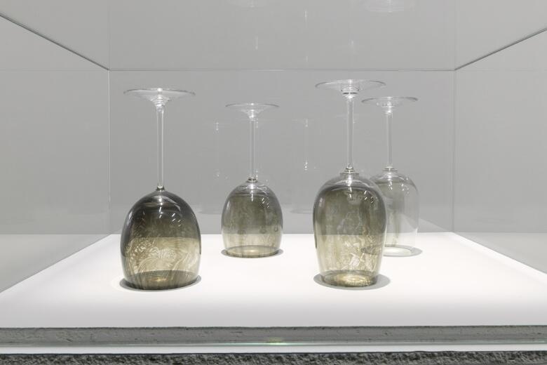 Las copas del artista francés Patrick Neu.
