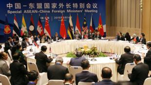 中国与东盟6月14日在云南玉溪举行外长会议