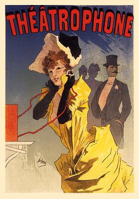 Театрофон — литография1896 г. Жюля Шере (Jules Chéret)