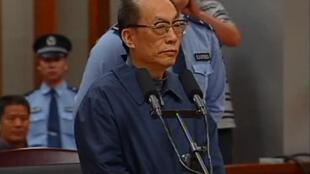 Liu Zhijun lors de son procès, le 9 juin 2013 à Pékin.