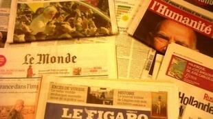 Capas dos diártios franceses 28/02/2013