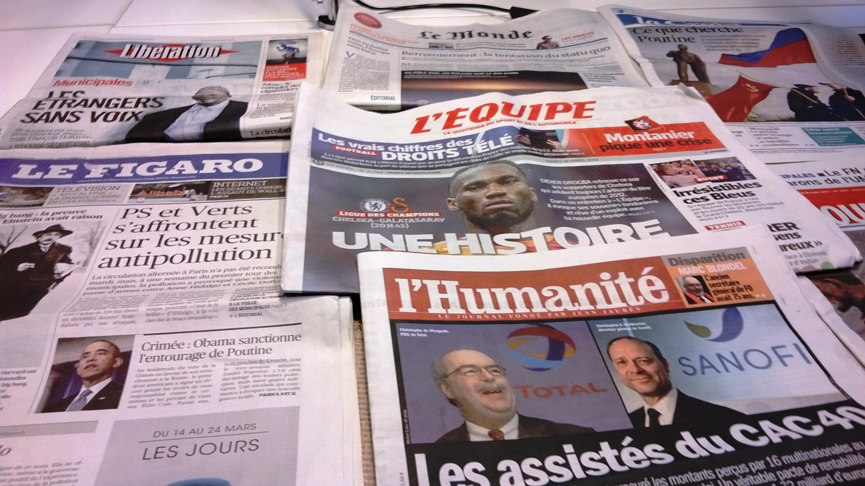 Diários franceses 18/03/2014