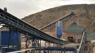 La mine de Bisha en exploitée par la compagnie canadienne Nevsun Ressources Ltd.