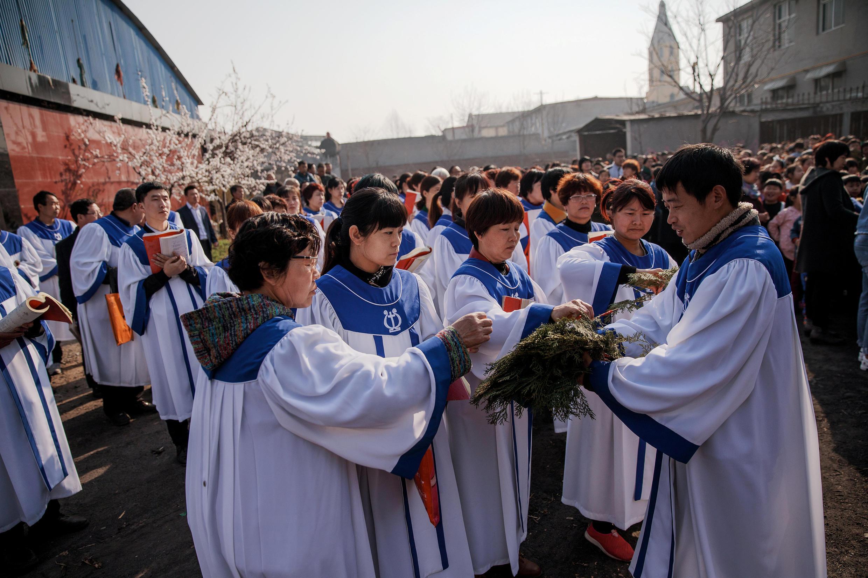 Giáo hội Công Giáo thầm lặng tại Hồ Bắc, Trung Quốc. Ảnh ngày 25/03/2016.