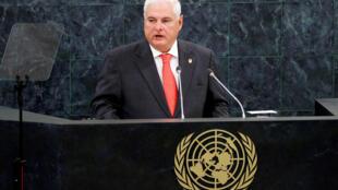 Ricardo Martinelli, à l'ONU, le 25 septembre 2013.