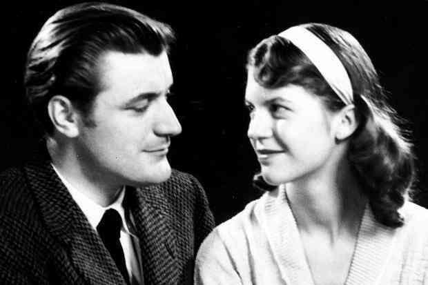 Ted Hughes et Sylvia Plath.