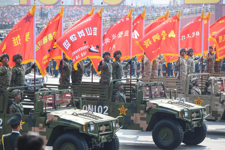 Binh sĩ Trung Quốc diễu binh trên quảng trường Thiên An Môn, Bắc Kinh nhân 70 năm quốc khánh, ngày 01/10/2019.