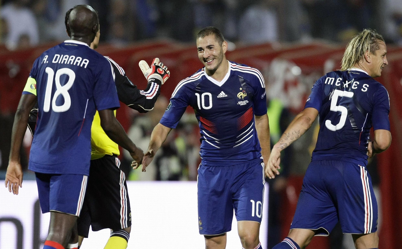 A primeira vitória da nova seleção francesa de futebol em Sarajevo, na Bósnia.