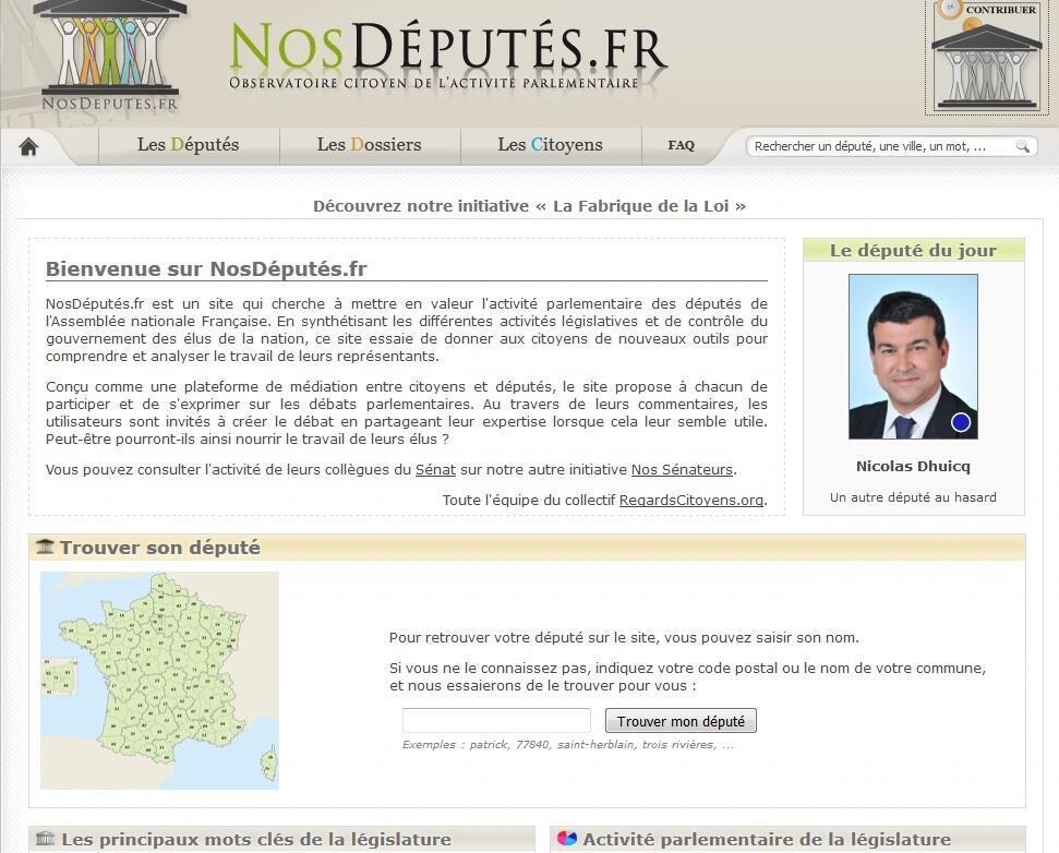 Sur le site, vous pouvez retrouver votre député et en savoir plus sur son activité à l'Assemblée nationale.