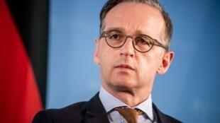 Le ministre allemand des Affaires étrangères Heiko Maas lors d'une conférence de presse à Berlin, le 5 juin 2020.