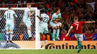 Đội tuyển Bỉ chiến thắng Hungary trong trận đấu ngày 26/06/2016.