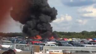 Acidente que matou familiares de Osama Bin Laden provocou incêndio em estacionamento.