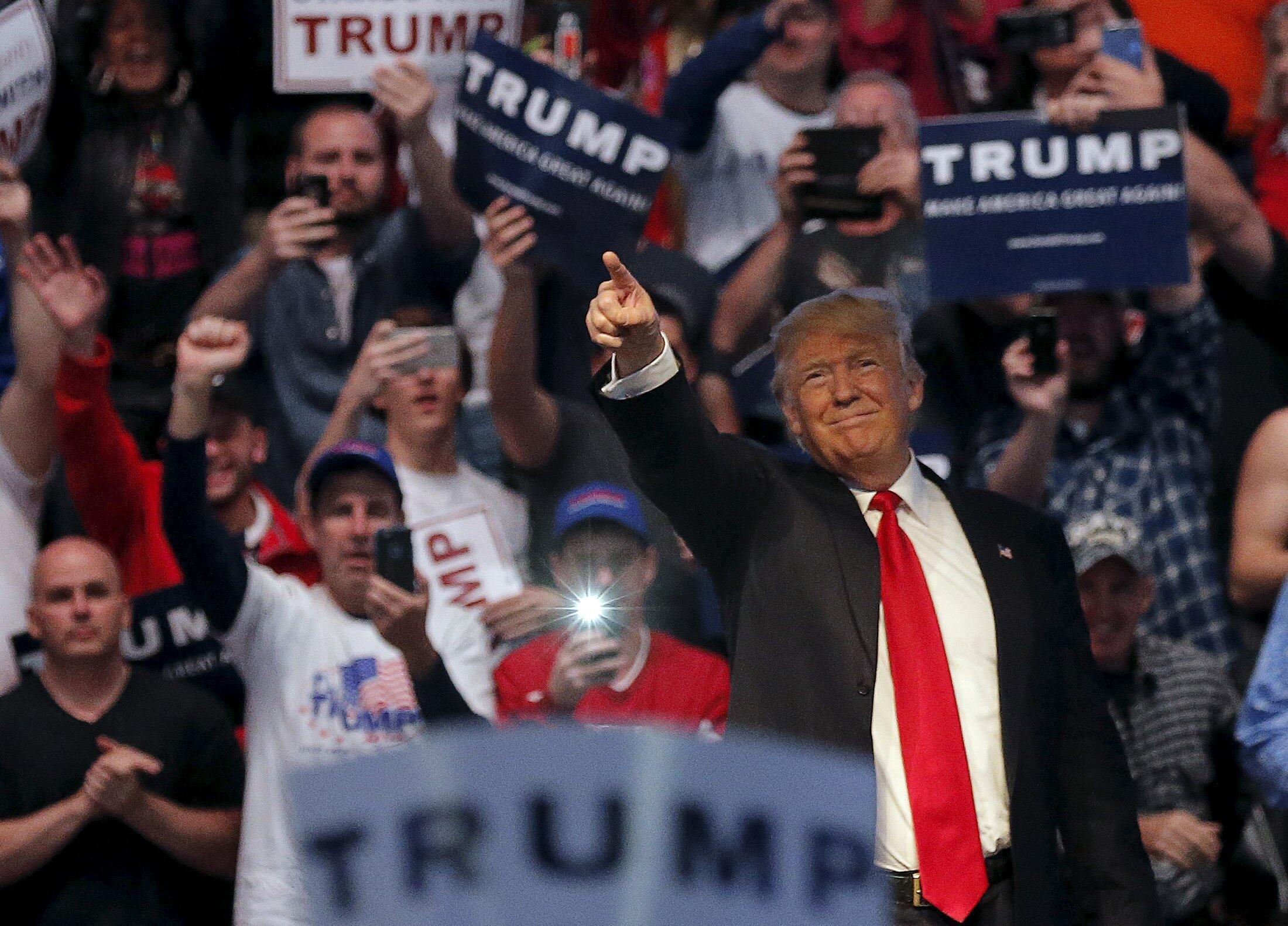 Donald Trump en un acto en Indianápolis el 27 de abril de 2016.