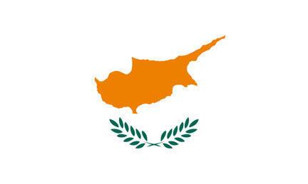 Le drapeau de Chypre.
