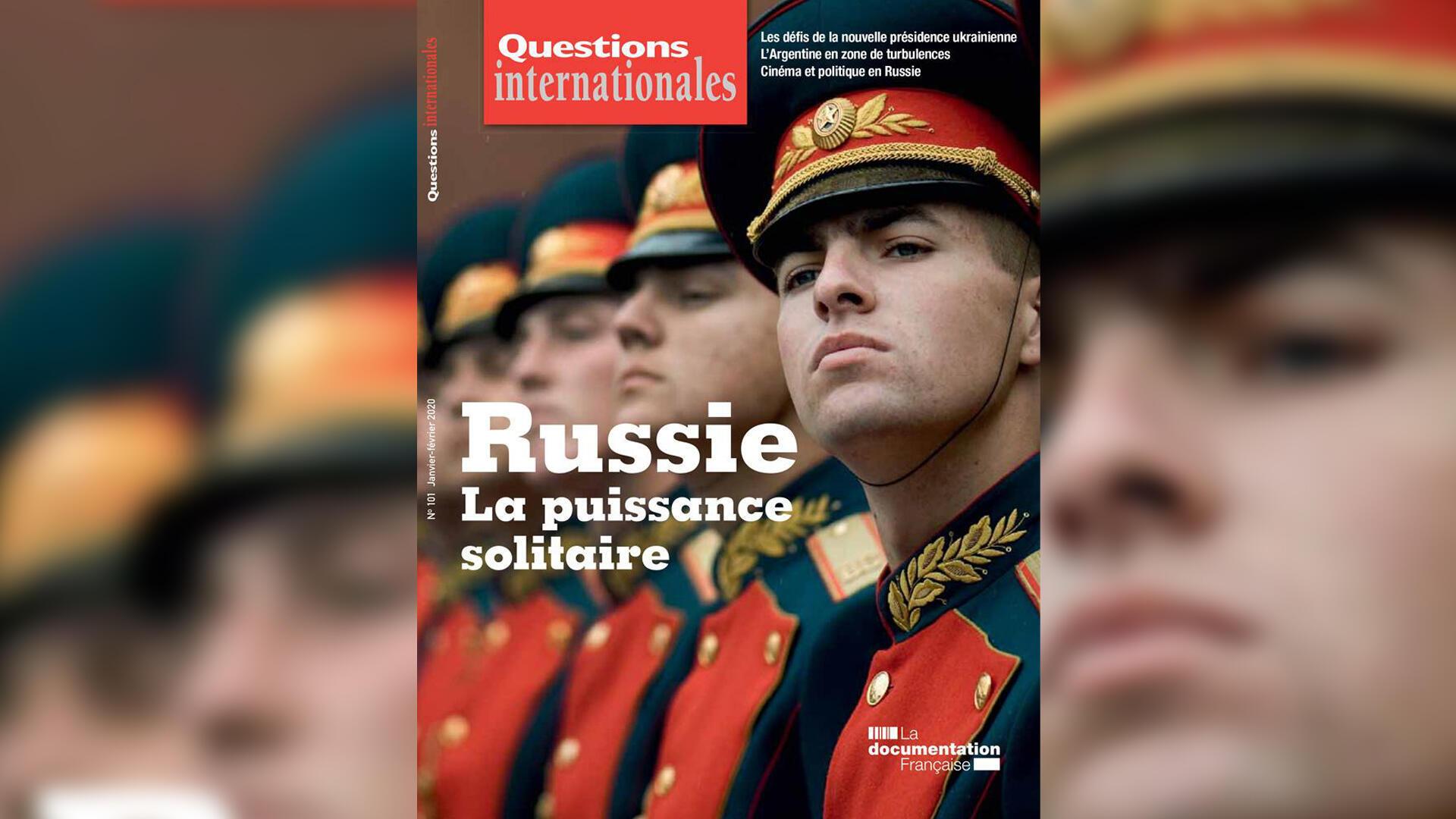 Couverture de la revue «Questions internationales».