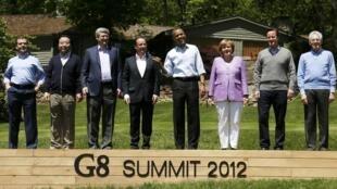 Các nguyên thủ khối G8 tại trại David, Maryland ngày 19/05/2012.