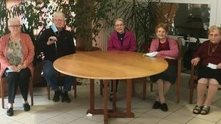 Some of the residents of a French care home for older people.