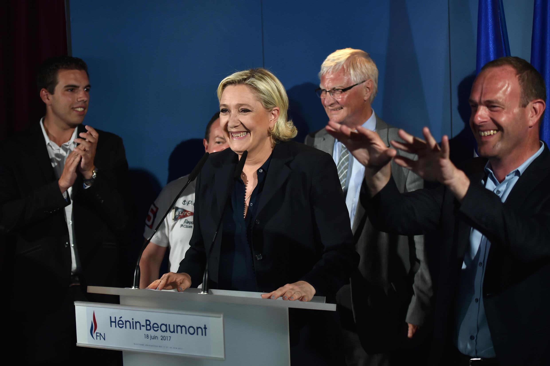 Марин Ле Пен и депутаты, избранные в парламент от крайне правого Нацфронта