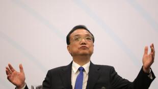 中国总理李克强出席论坛致辞资料图