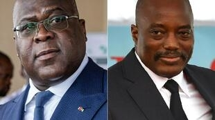 Tension: DR Congo President Felix Tshisekedi, left, and his predecessor, Joseph Kabila